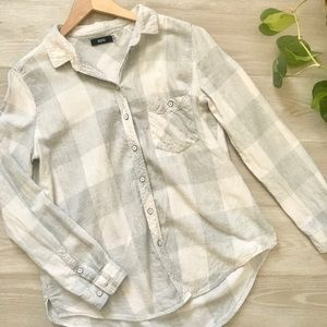 Urban Outfitters BDG Gray Plaid Flannel Shirt